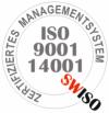 ISO 9001 und 14001 Zertifikat SWISO