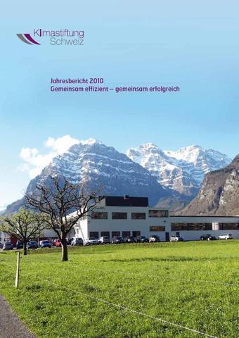 Anerkennungspreis Klimastiftung Schweiz 2010