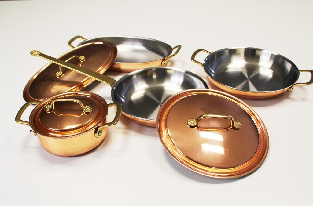 Rarität für Koch-Liebhaber: die letzten, neuen Stöckli Kupfer-Pfannen der Serie 'PALACE'