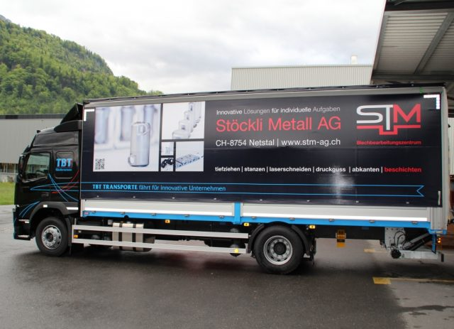 Stöckli Metall LKW Transport