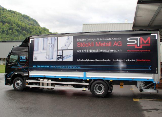 Stöckli Metall LKW Transport