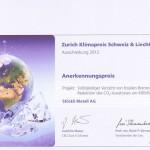 Stöckli Metall - Anerkennungspreis 2010 Zürich Klimapreis Schweiz und Lichtenstein