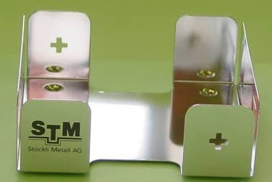 Stöckli Metall Stanz-Biege Teil Zettelhalter Polieren