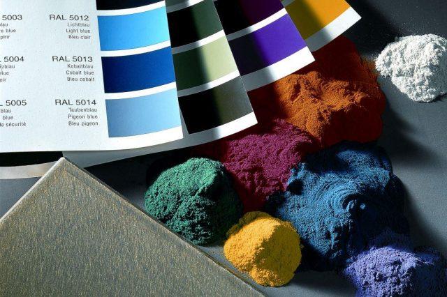 Stöckli Metall Farbpalette Pulverbeschichten