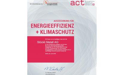 Auszeichnung für aktiven Klimaschutz