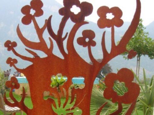 Blech-Sichtschutz und Deko für Garten – Blume