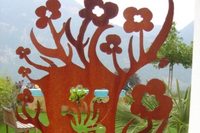 Blech Sichtschutz Und Deko Für Garten U2013 Blume