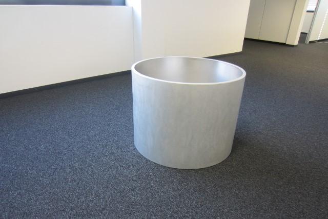 Pflanzentopf rund aus Aluminium