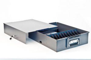 Stöckli Metall Geldkassette, gelasert, pulverbeschichtet, montiert