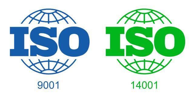 ISO 9001 and 14001 SWISO logo