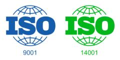 ISO 9001 and 14001 Certificate