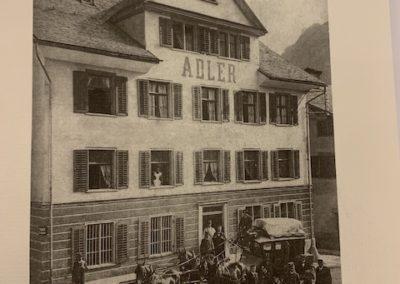 Restaurant Adler, Schwanden - alte Fotografie