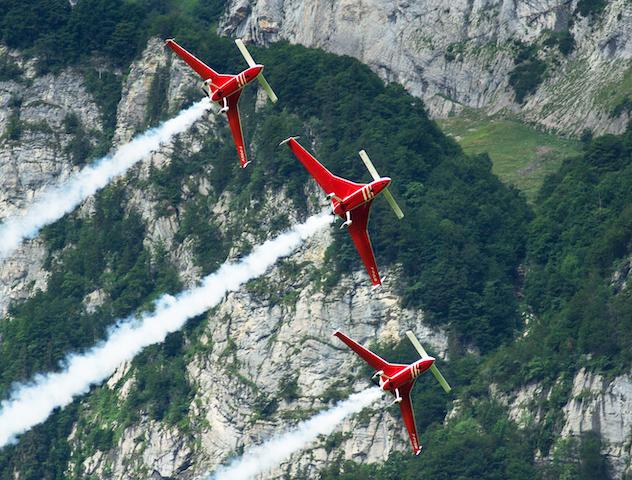 3er Formation Flugzeuge