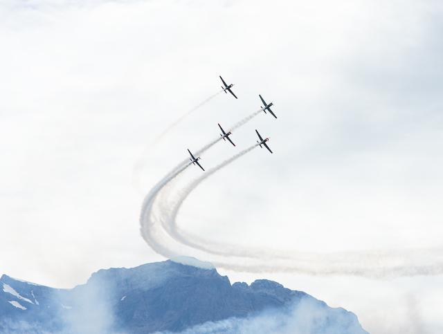 Flugzeugformation