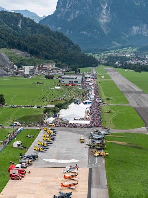 Zigermeet 2019 - Flugplatz Mollis aus der Luft