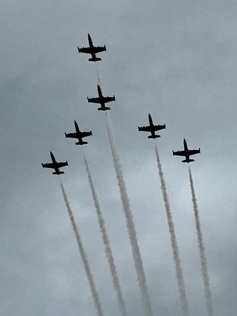Formation am Himmel